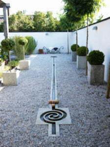 Peter Englander Labyrint med kanal. Hedins Trädgård.