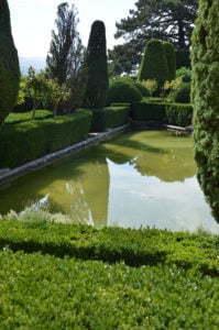 Peter Englander Villa Gamberaia. En gång en blomsterparterr. Nu en vatten dito
